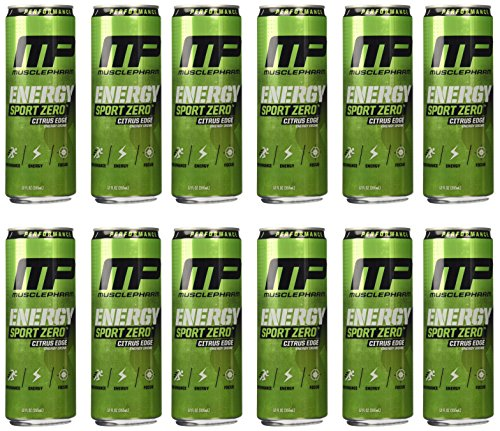 Muscle Pharm Energy Sport Drink, Citrus, 12 Count