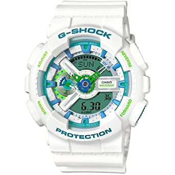 141cd21ca632 Image Unavailable. Image not available for. Color  Casio G-Shock GA110WG-7A  White 55mm Resin Mens Watch