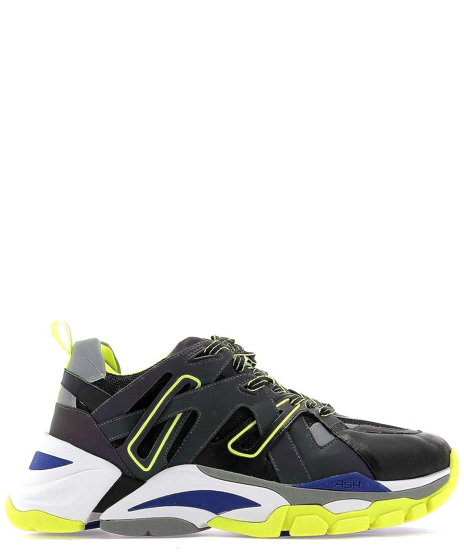 - Ash Men's FREE02NAPPACALFBLACK Black Leather Sneakers