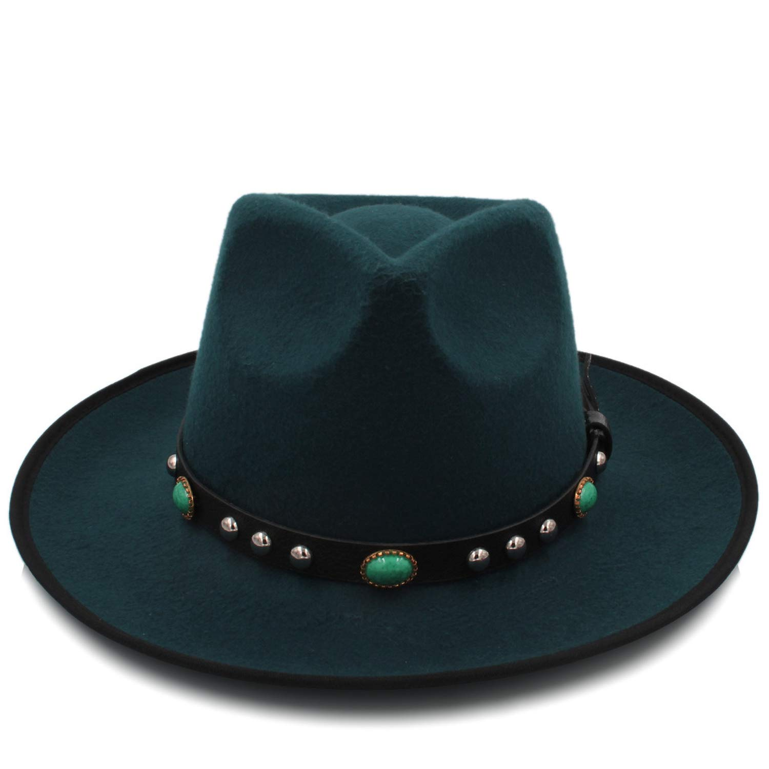 261cd4911fc3e Fashion Women Felt Chapeau Fedora Hat with Wide Brim Jazz Hat Lady Queen  Sombrero Fascinator Dad Sombrero Hat at Amazon Women s Clothing store