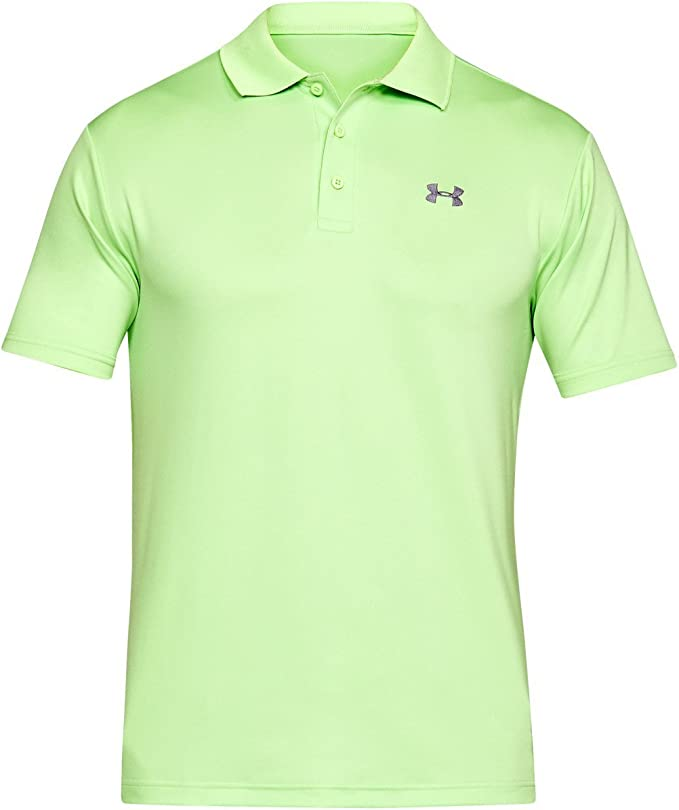 Under Armour UA Performance Polo, Hombre, Verde (Lumos Lime/Zinc ...