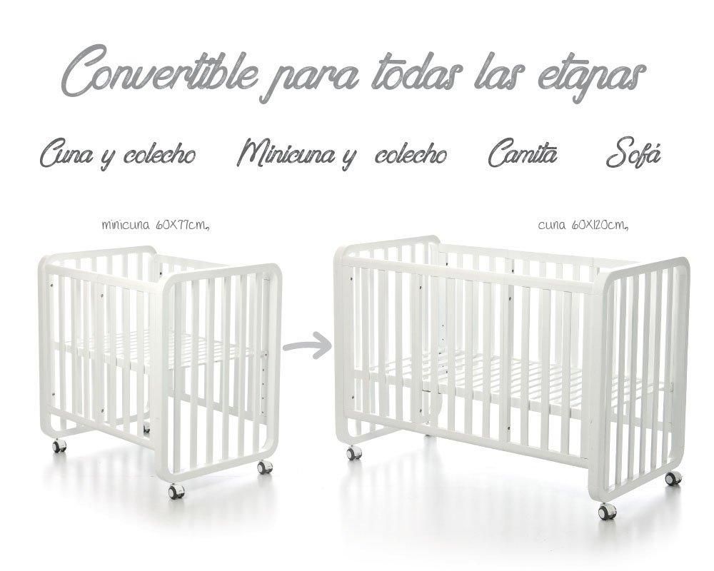 Bolin Bolon Pack Cuna-minicuna colecho OSLO completa IZAN BEIG: Amazon.es: Bebé