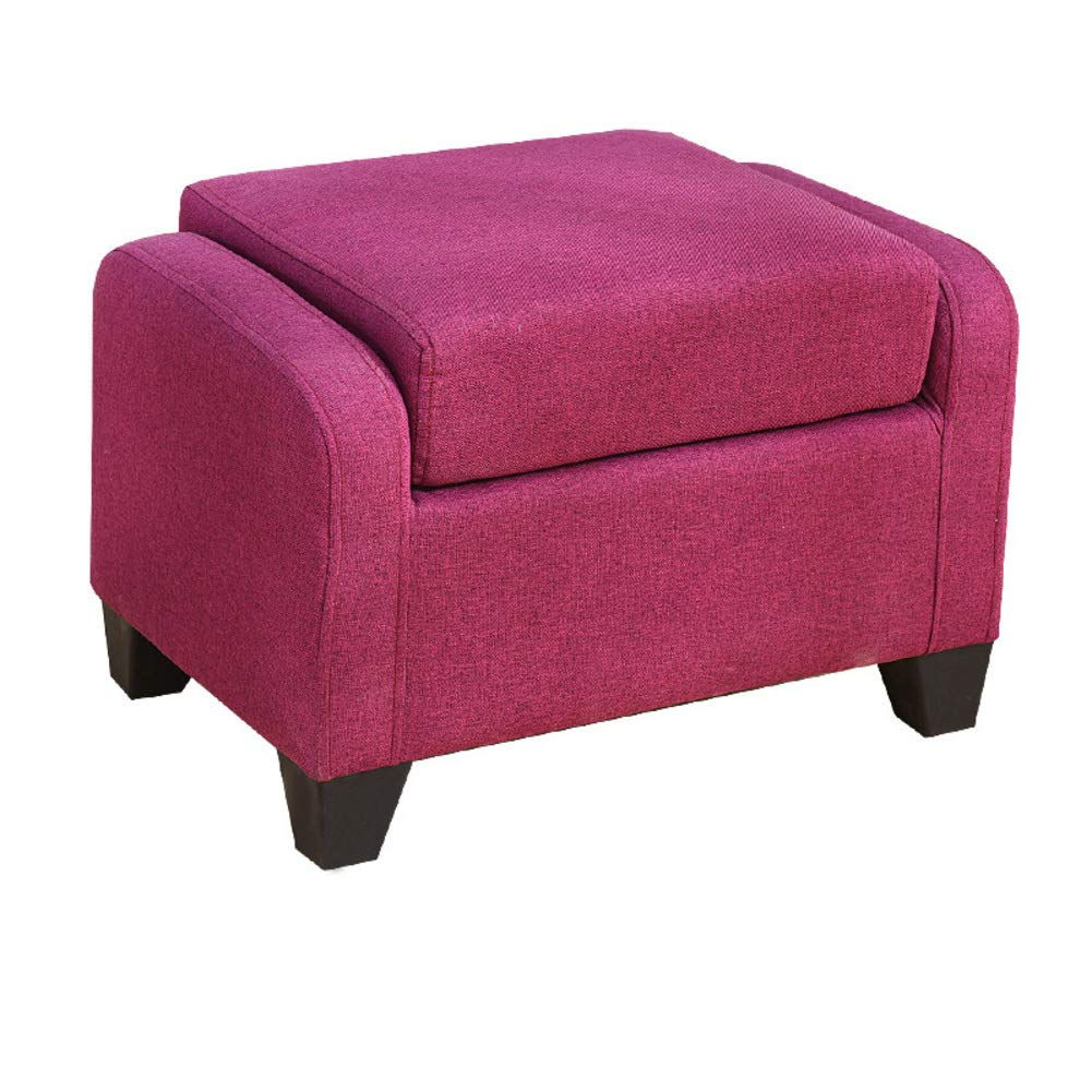 Velvet Tufted Lift-top Ottoman Small Sofa Removable Footrest Stool, Wooden Cube Upholstered Seat Chest Changing Shoes Bench-A 40x60cm(15.7x23.6inch) OHDEYUEVBRGHFCVDHS