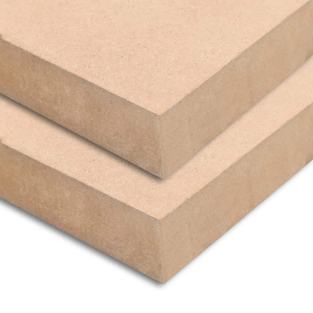 vidaXL 2x MDF Platten 120x60 cm 25 mm Mitteldichte Faserplatte Holzzuschnitt