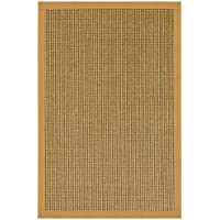 NaturalAreaRugs Crossroads Collection Sisal Area Rug, Handmade in USA, 100% Sisal, Non-Slip Latex Backing, Durable, Stain Resistant, Eco/Environment-Friendly, (3 Feet x 5 Feet) Sage/Khaki Border