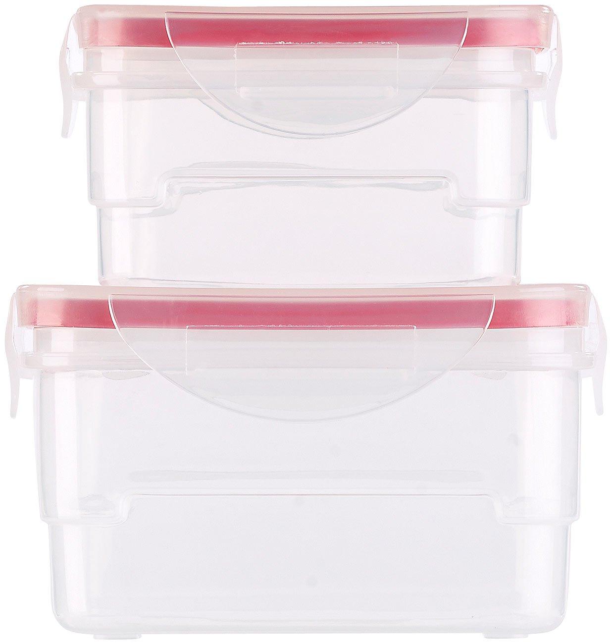Juego de con tapa de clip, sin BPA 8/latas fiambreras /Caja: 16/Juego de fiambreras Rosenstein /& S/öhne/ pl/ástico
