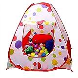 EocuSun Children Kids Play Tent Tents House Pop Up Outdoor Indoor Ball Pit Baby Beach Tent Playhouse w/ Zipper Storage Case for Boys Girls (Polka Dot)