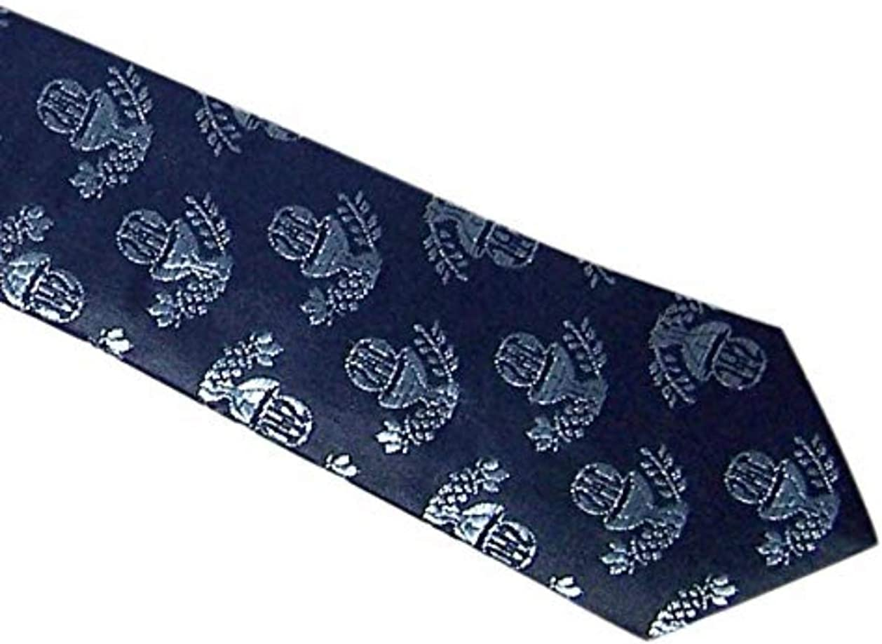 13 1//2 Inch Navy Blue First Communion Tie for Boys with IHS Chalice Design