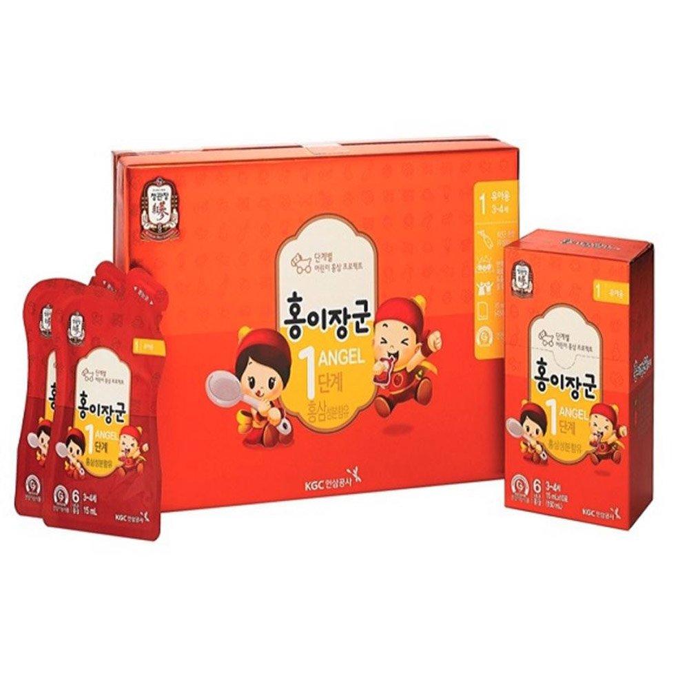 Cheong Kwanjang By Korea Ginseng Corporation Korean Red Ginseng ''HONGEJANGGUN'' Tonic for kids LEVEL 1 (3~5 years old) All New Version