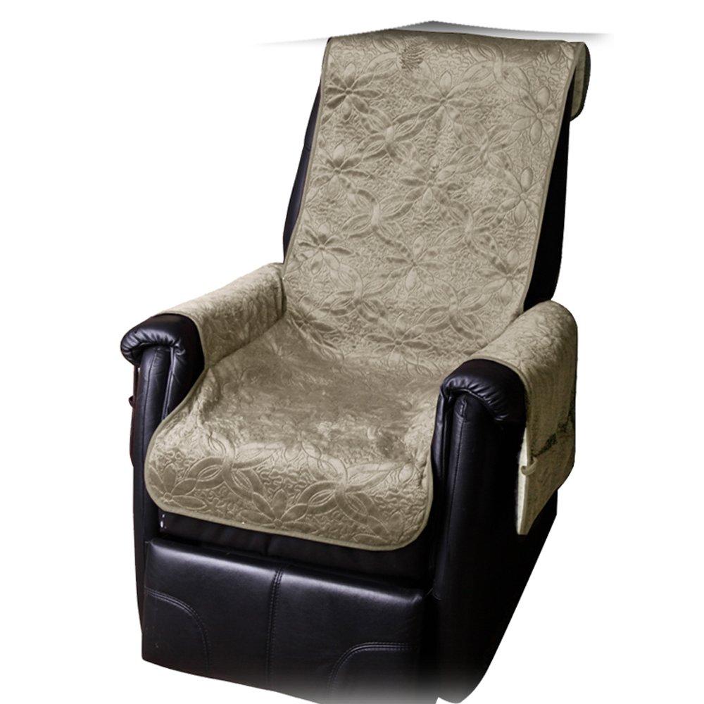 JEMIDI Sesselschoner mit Seitentaschen Lammflor Sesselschoner Sesselauflage Überwurf Sesselüberwurf Sesselbezug Polster Sofaüberwurf Sesselschützer Sesselbezug Schonbezug Anthrazit