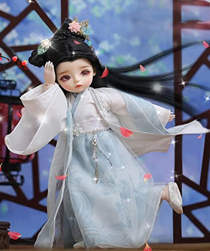 Alissa Girls Birthday Gift BJD Doll 10 Inch 13 Movable Joints BJD Princess with 2 Dress 1//6 Makeup Dress Up Kawaii Toys for Age 3