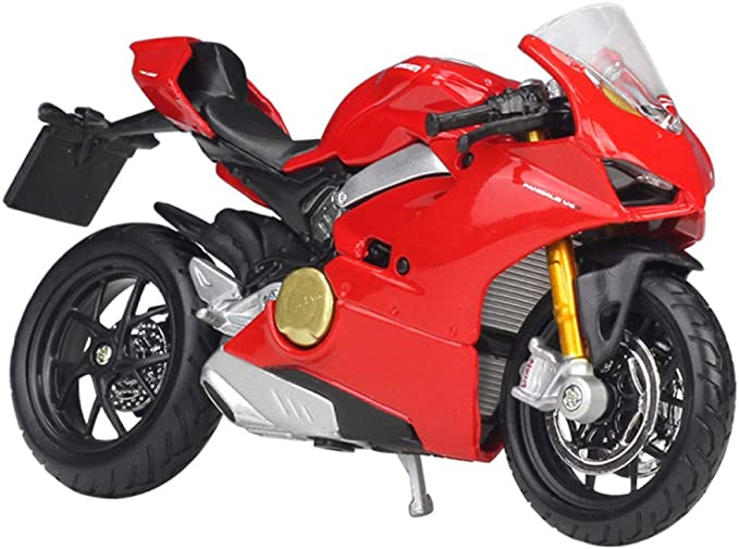 ZZH 2018 Ducati Panigale V4 Special Edition Model Moto Kit 1:18 Escala,Red