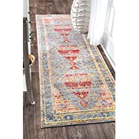 nuLOOM AWTW02A Yellow Persian Vintage Katia Runner, 2.6 x 7.10, Yellow