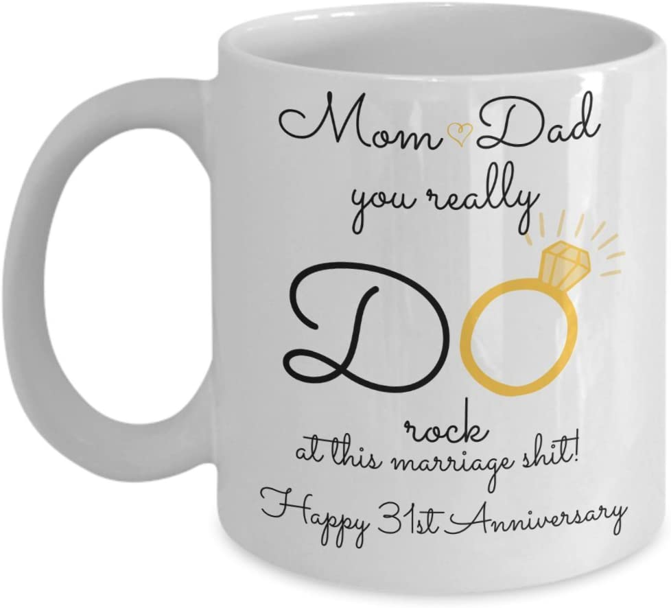 Amazon Com 31st Wedding Anniversary Gift For Parents Mom And