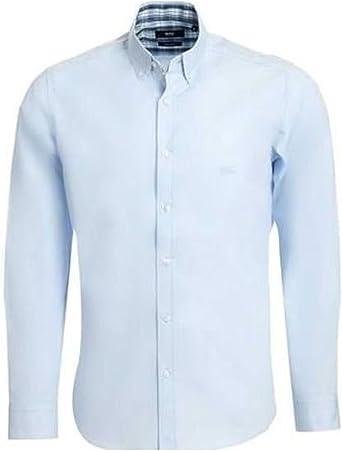 BOSS Hugo Camisa Casual - para Hombre Azul Azul Claro L: Amazon.es: Ropa y accesorios