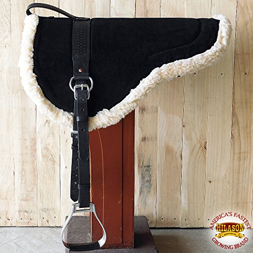 (HILASON Natural Horsemanship Leather Bareback Western Treeless Saddle Pad )