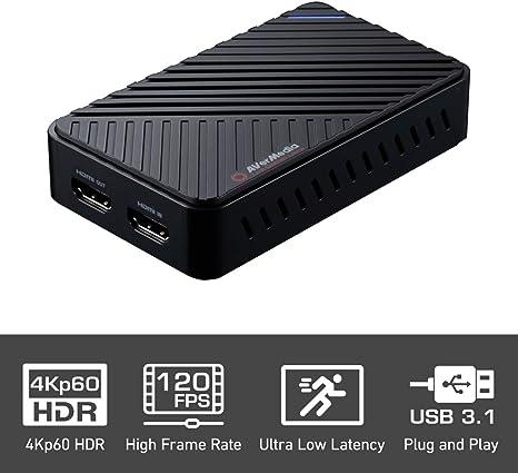 AVerMedia Live Gamer Ultra, Capturadora de vídeo y de streaming USB3.1, pass-through 4 KP60 hdr, muy débil latence, ENREGISTRE hasta 120 fps (gc553): Amazon.es: Informática