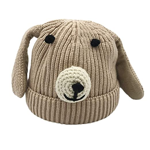 16a6678fe53 Apolonia New Kids Infant Baby Baby Kids Boys Girls Cartoon Dog Ear Knitted  Crochet Beanie Winter