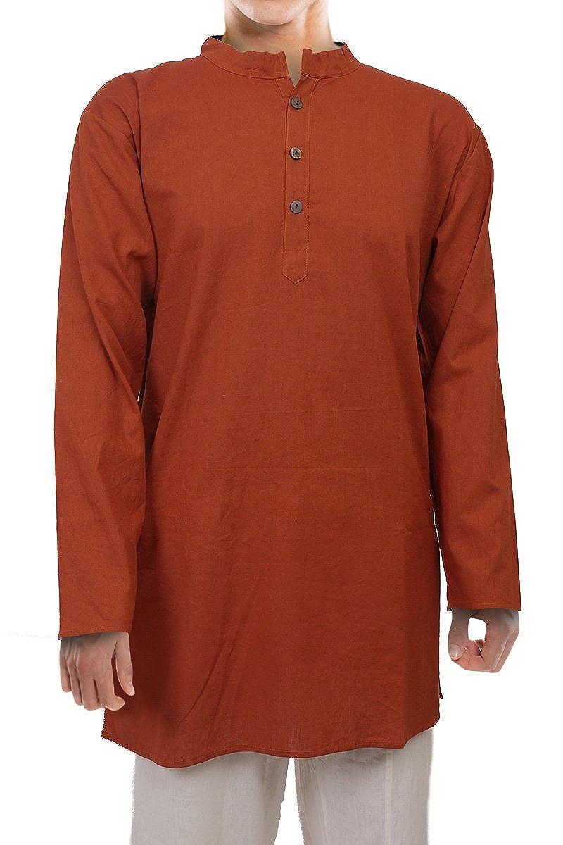 3 Tailles Ufash Kurta Indienne Unisexe en Coton Plusieurs Couleurs Chemise//Blouse Longue