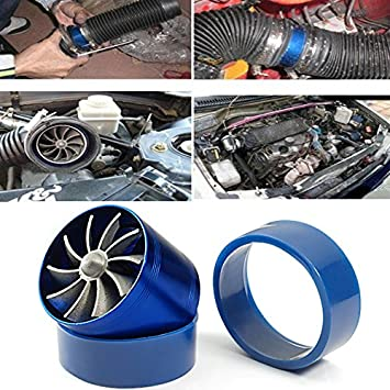 Single Fan F1-Z Universal Air Intake Dual Turbonator Turbo Fuel Gas Saver Inflating Acceleration Pipe: Amazon.es: Coche y moto