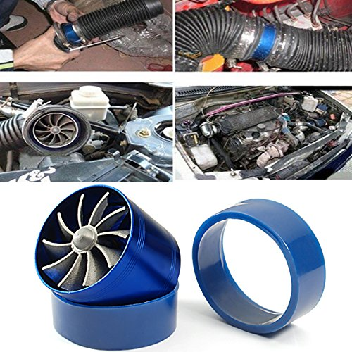 Turbo Air Intake Pipe (Single Fan F1-Z Universal Air Intake Dual Turbonator Turbo Fuel Gas Saver Inflating Acceleration)