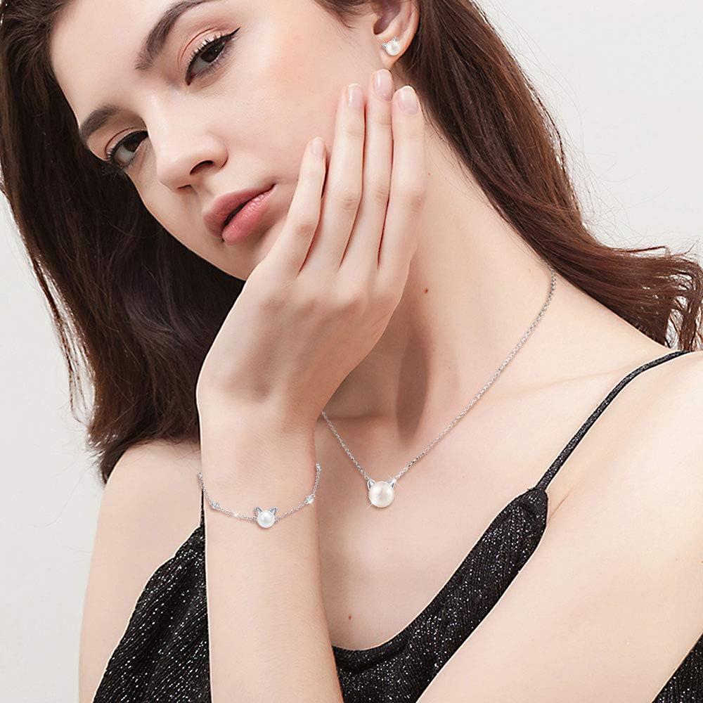 925 Sterling Silver Rose Fleur Femmes Collier Bracelet Boucles d/'oreilles Anneau Set GS267