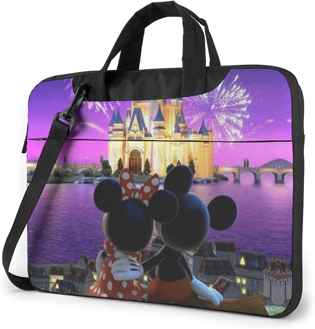 15.6 Inch Laptop Bag Minnie and Mickey Mouse Laptop Briefcase Shoulder Messenger Bag Case Sleeve