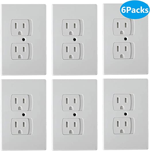 Baby Home Safety Socket Covers Clear Outlet Covers Safety Socket Covers Protectors Child Proof Electrical Protectors for Child Baby Home and School US Plug