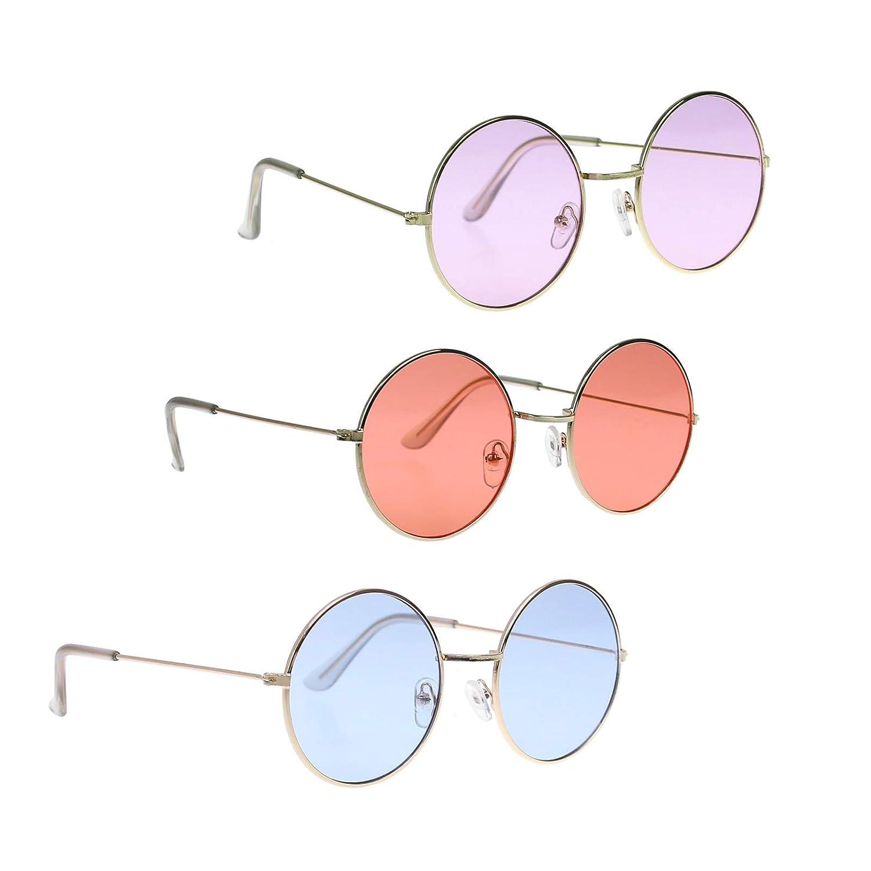 Pomcat Gafas de Sol Estilo Circle Estilo John Lennon Estilo ...