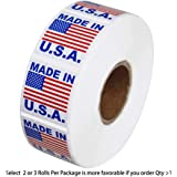 """DREAM ART 1 Roll Made in USA Pre-Printed Labels Stickers (1"""" x 1"""") ; 1000 Labels per Roll"""