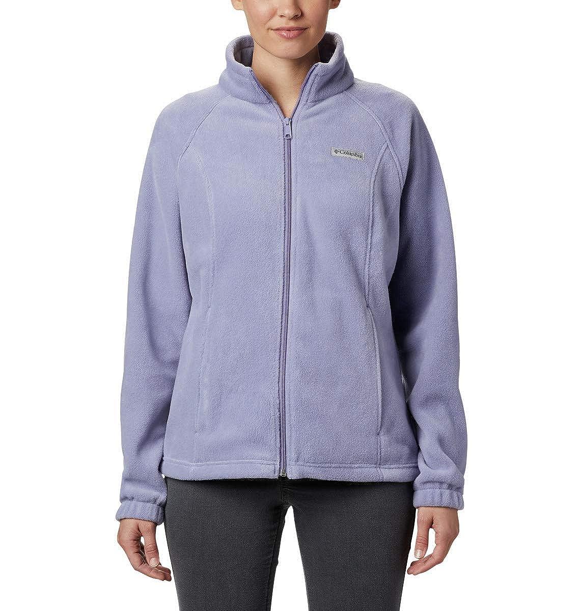 Soft Fleece with Classic Fit Columbia Womens Benton Springs Full Zip Jacket Dusty iris X-Small