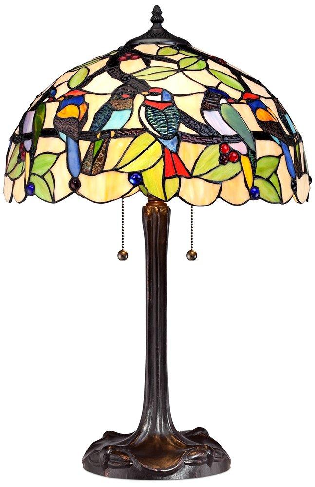 Tropical Birds Robert Louis Tiffany Table Lamp by Robert Louis Tiffany