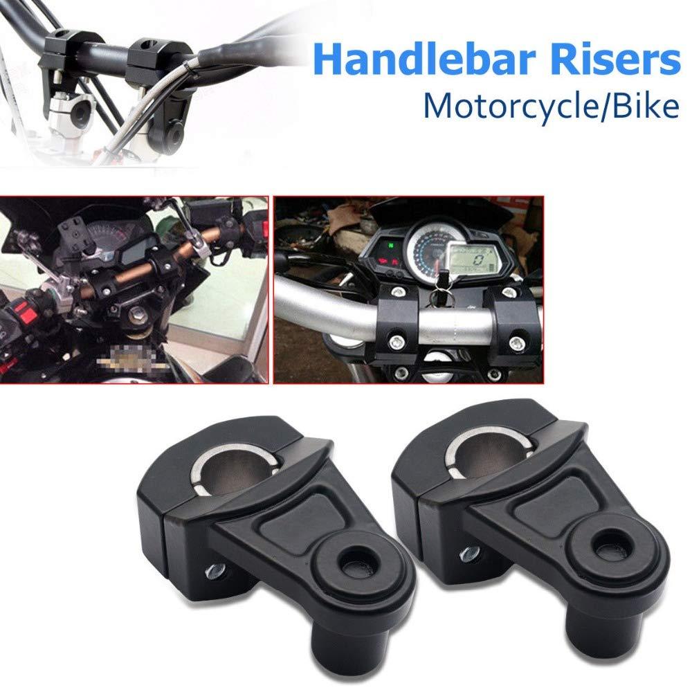 "7//8/"" 22mm 28mm Silver CNC Motorcycle HandleBar Handle Fat Bar Mount Clamps Riser"
