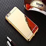 CenterPoint iPhone 6 Case and Cover - Electroplated TPU Mirror Case Convex Point Designed Body Protection - Gold Color
