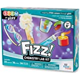hand2mind Fizz Chemistry Science Kit for Kids Ages 8-12, 32 Science Experiments and Fact-Filled Guide, Make Your Own Foam and