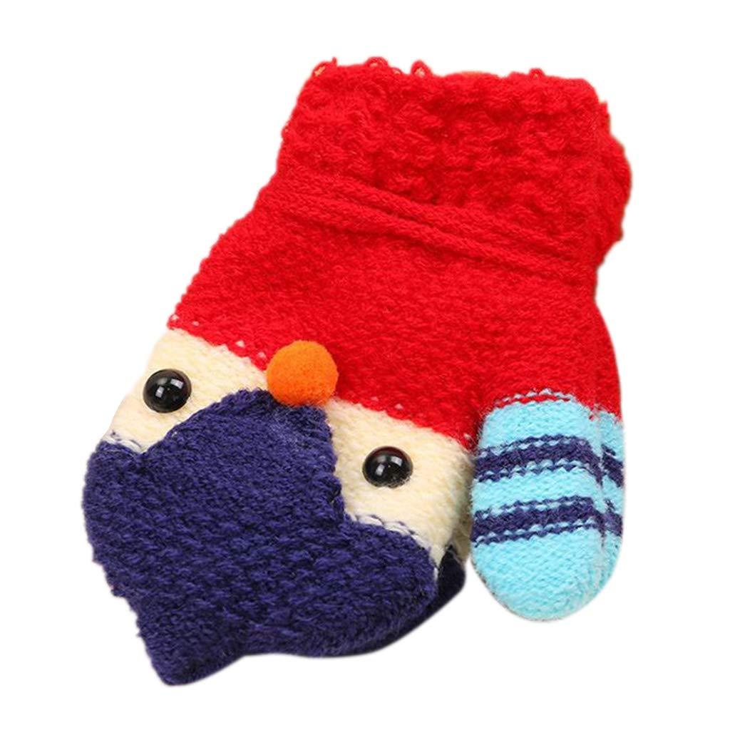 Autone Bambino Bambino Unisex Inverno Addensato Uncinetto Elastico Guanti in Pile con Stringa per 1 –  5 Anni Royal Blue