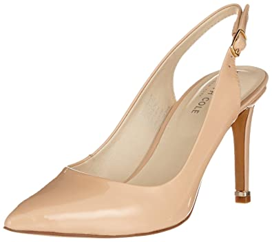 e9fff6a3443 Kenneth Cole New York Riley 85 Patent Slingback Pump Nude