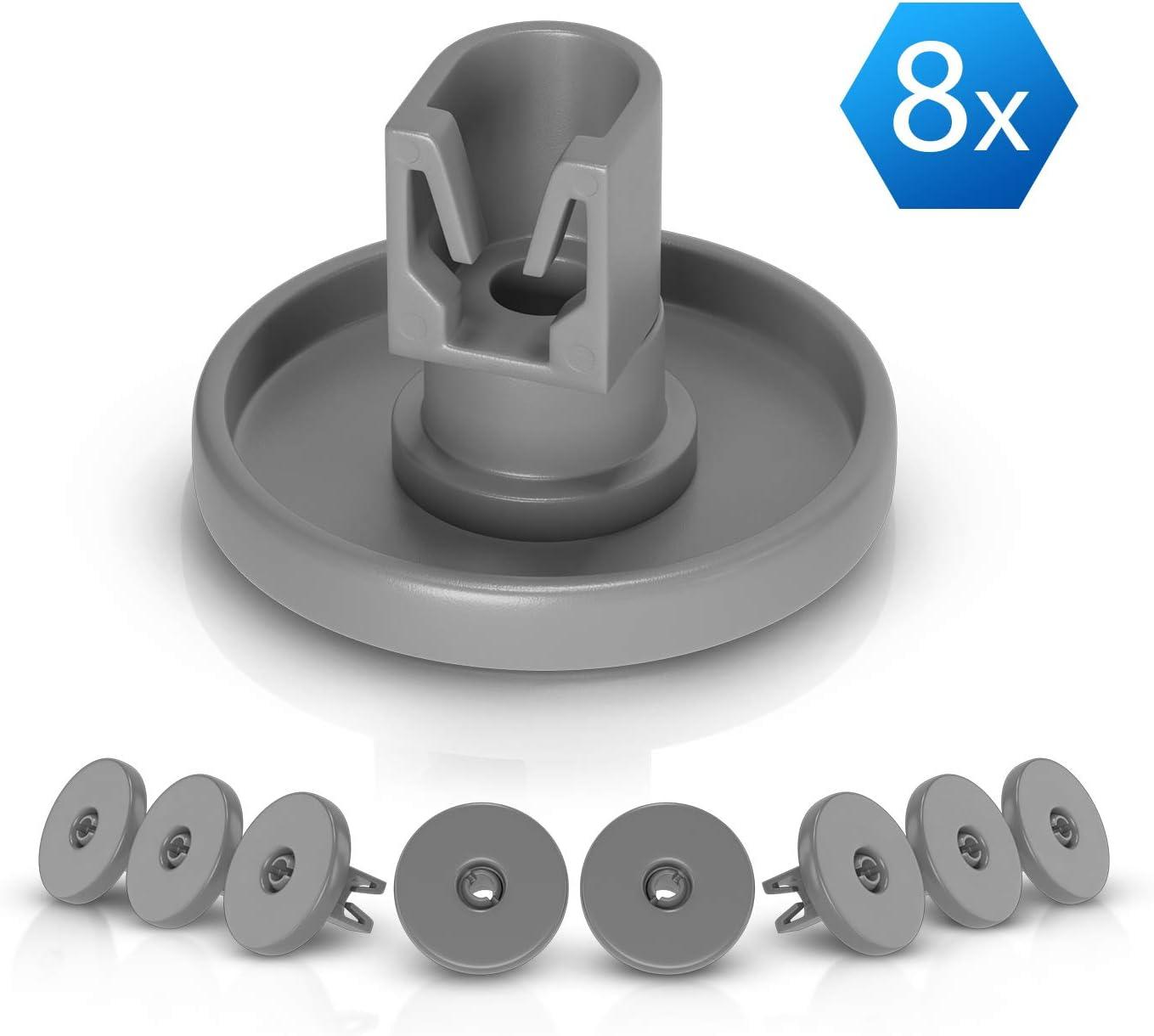 Ruedas para cesta inferior como Electrolux 5028696500/4, 40 mm de diámetro, piezas de repuesto y accesorios, juego de 8 unidades para cesta inferior lavavajillas