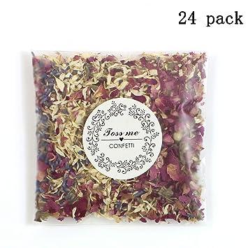 Amazon.com: Confeti de rosas secas y pétalos 100% naturales ...
