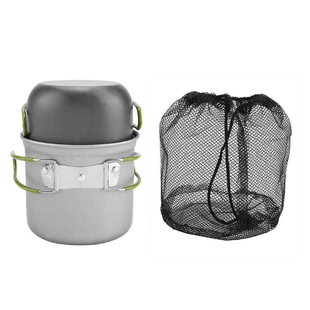 TOPINCN Camping Kochgeschirr 2 Teile//Satz Tragbare Aluminium T/öpfe f/ür Outdoor BBQ Reise Backpacking Wandern Picknick Kochen mit Klappgriff