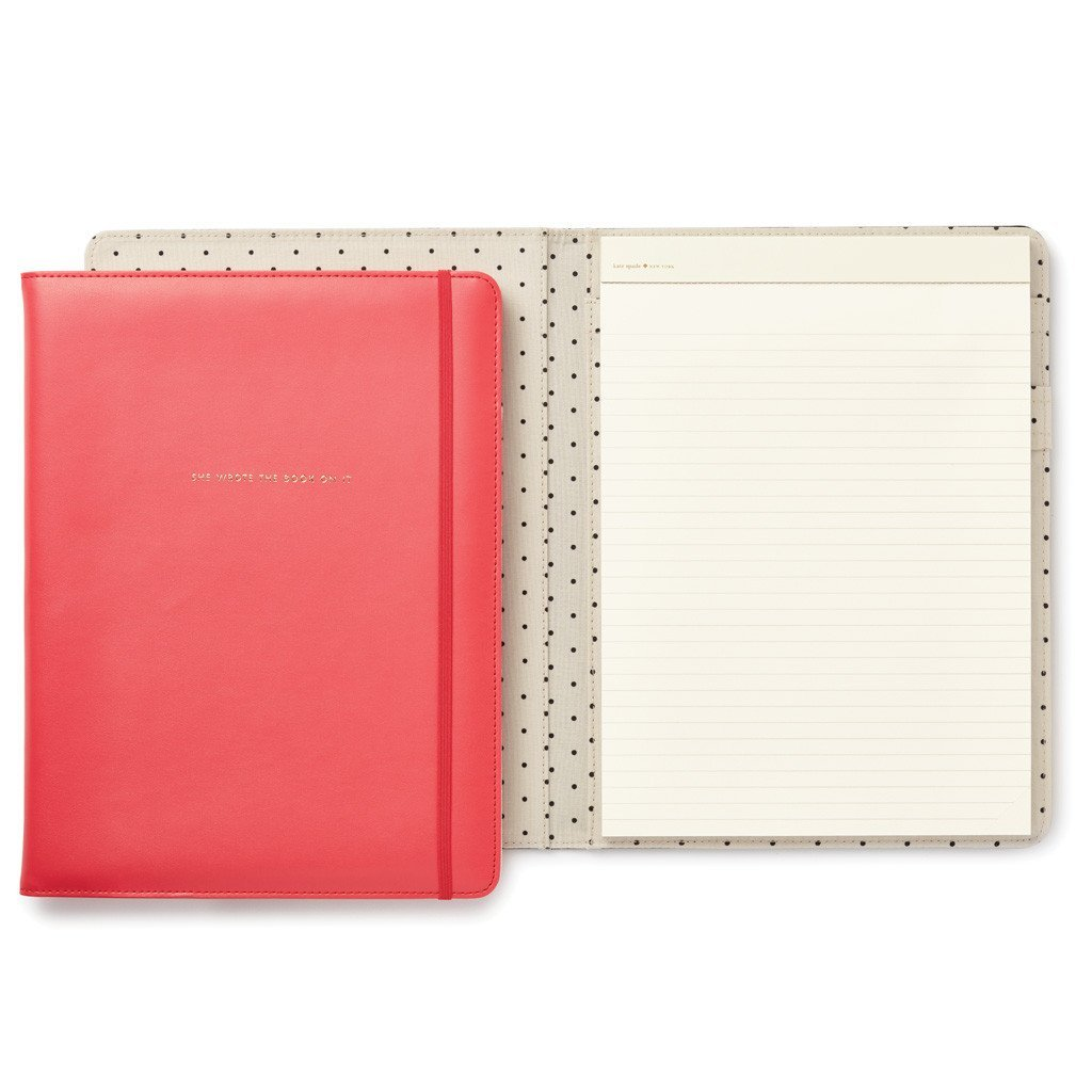 Kate Spade Notepad Folio, She Wrote The Book On It, Pink (174745)