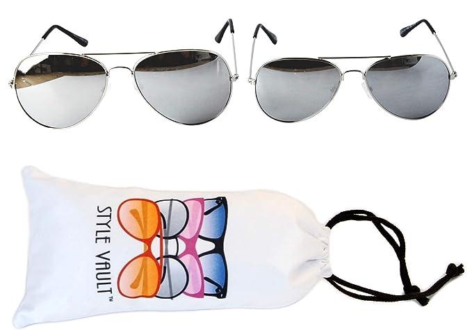 Amazon.com: Gafas de sol de metal A3000-vp estilo Vault ...