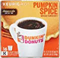 Dunkin Donuts Pumpkin Spice Flavor K-Cups for Keurig Coffee Brewers