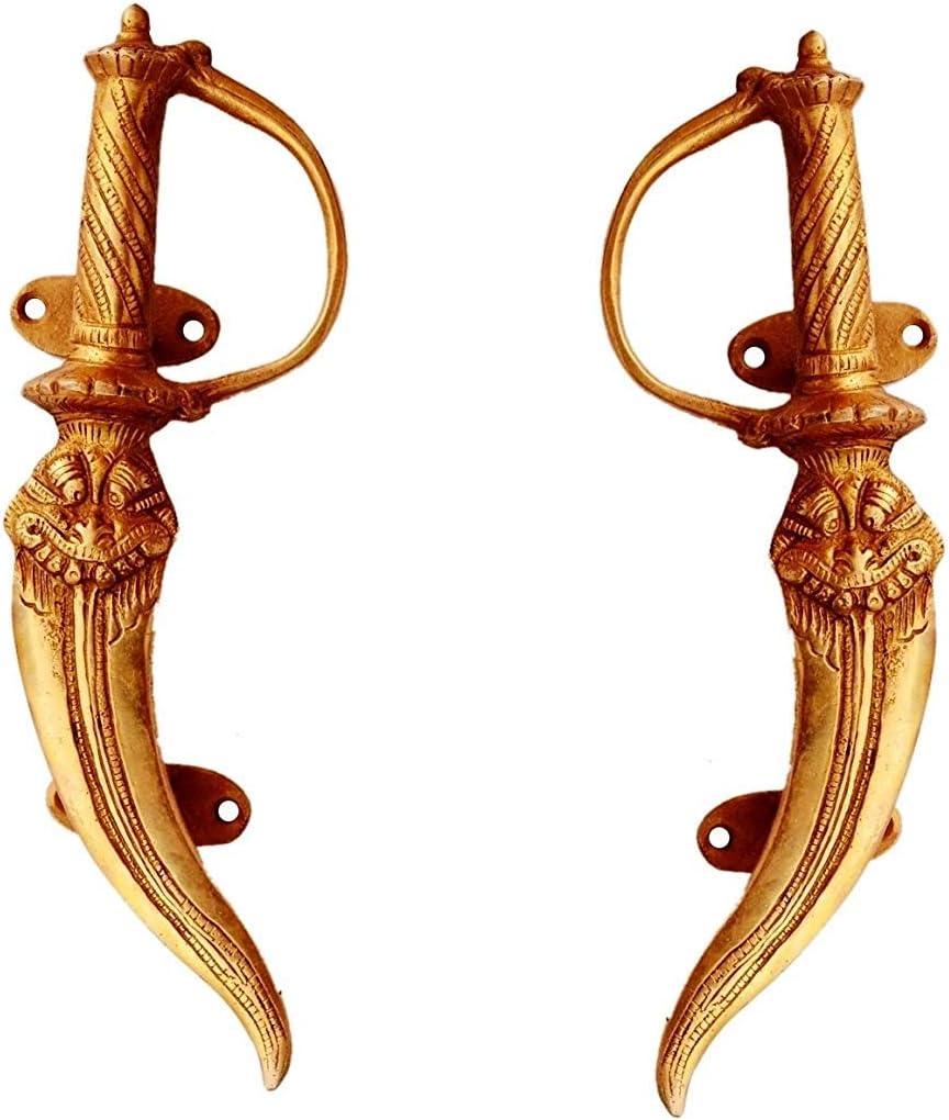 PARIJAT HANDICRAFT Door Knocker Brass Door//Window//Cupboard Handle Lucky Dragon