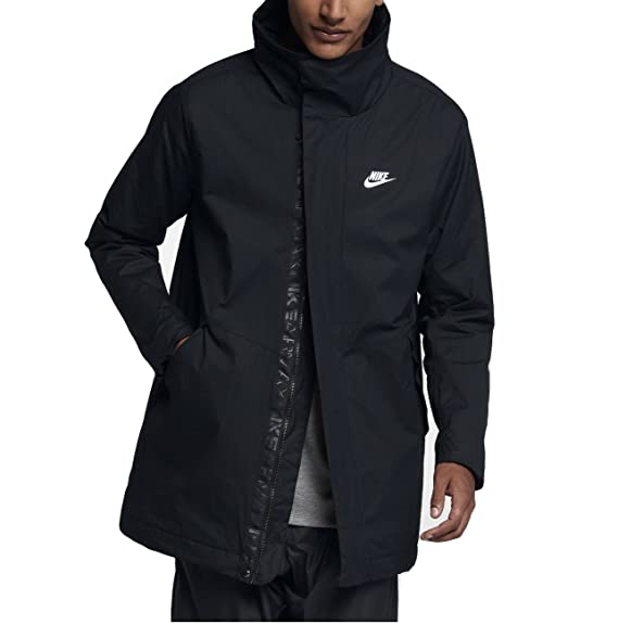 Nike Air Max pour Homme Veste tissée, Homme, Noir, Large