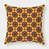 iPrint Satin Throw Pillow Cushion Cover,Arabian,Traditional Old Fashion Arabesque Islamic Mosaic Triangle Patterns in Retro Ancient,Multicolor,Decorative Square Accent Pillow Case
