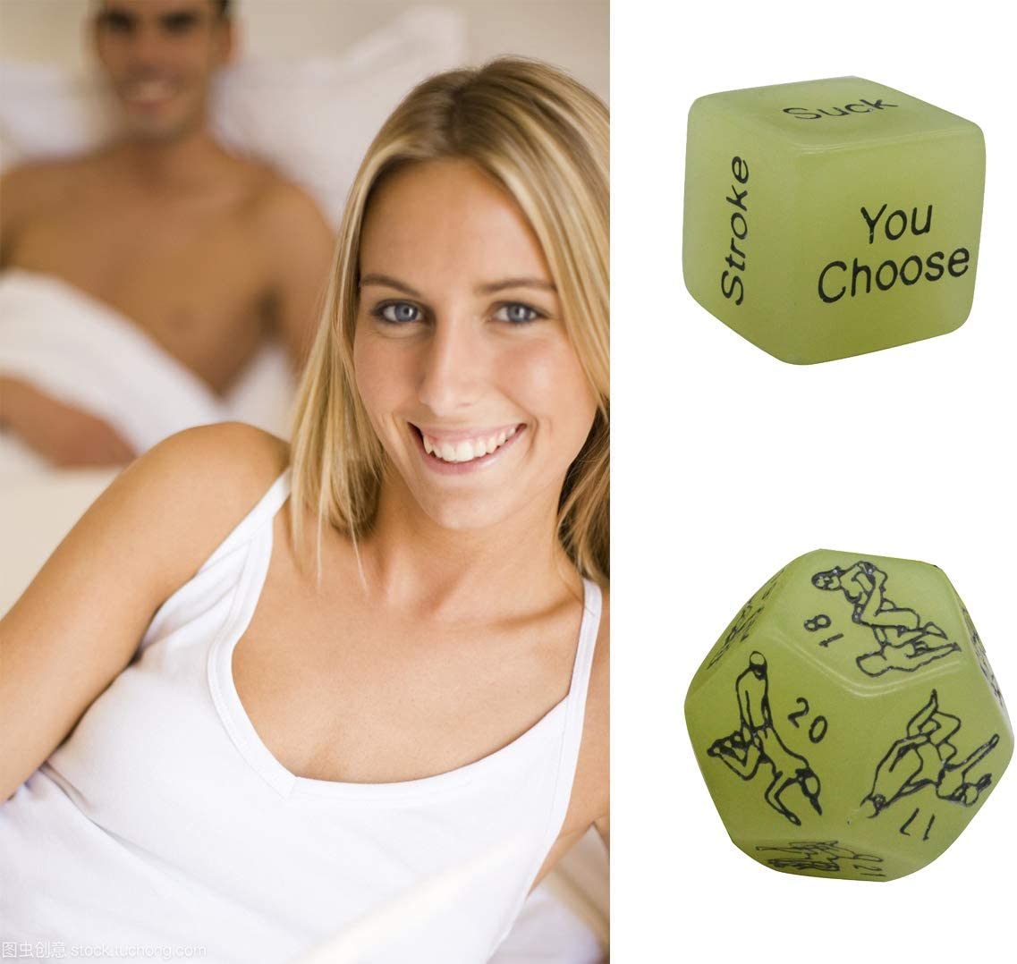 Marriage Anniversary Groom Roast Him and Her Newlyweds Bridal Shower Wedding 4pcs Romantic Novelty Game Dice Luminous Role Playing Funny Gift for Valentines Day Honeymoon Bachelorette Party