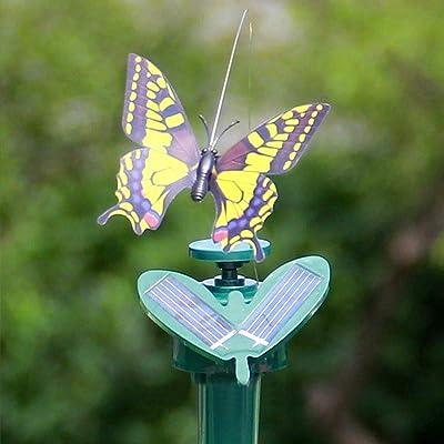 1pcs Solar/Battery Powered Flying Wobble Fluttering Hummingbird Butterfly for Garden Yard Plants Flowers Patio Landscape Outside Ornament Decor Color Random : Garden & Outdoor