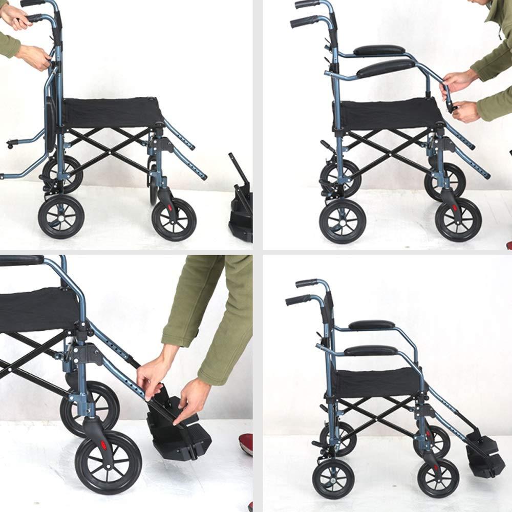 Amazon.com: ZJⓇ Wheelchair Wheelchair, Aluminum Alloy Elderly Disabled Manual Wheelchair Small Light Foldable Portable Travel: Kitchen & Dining
