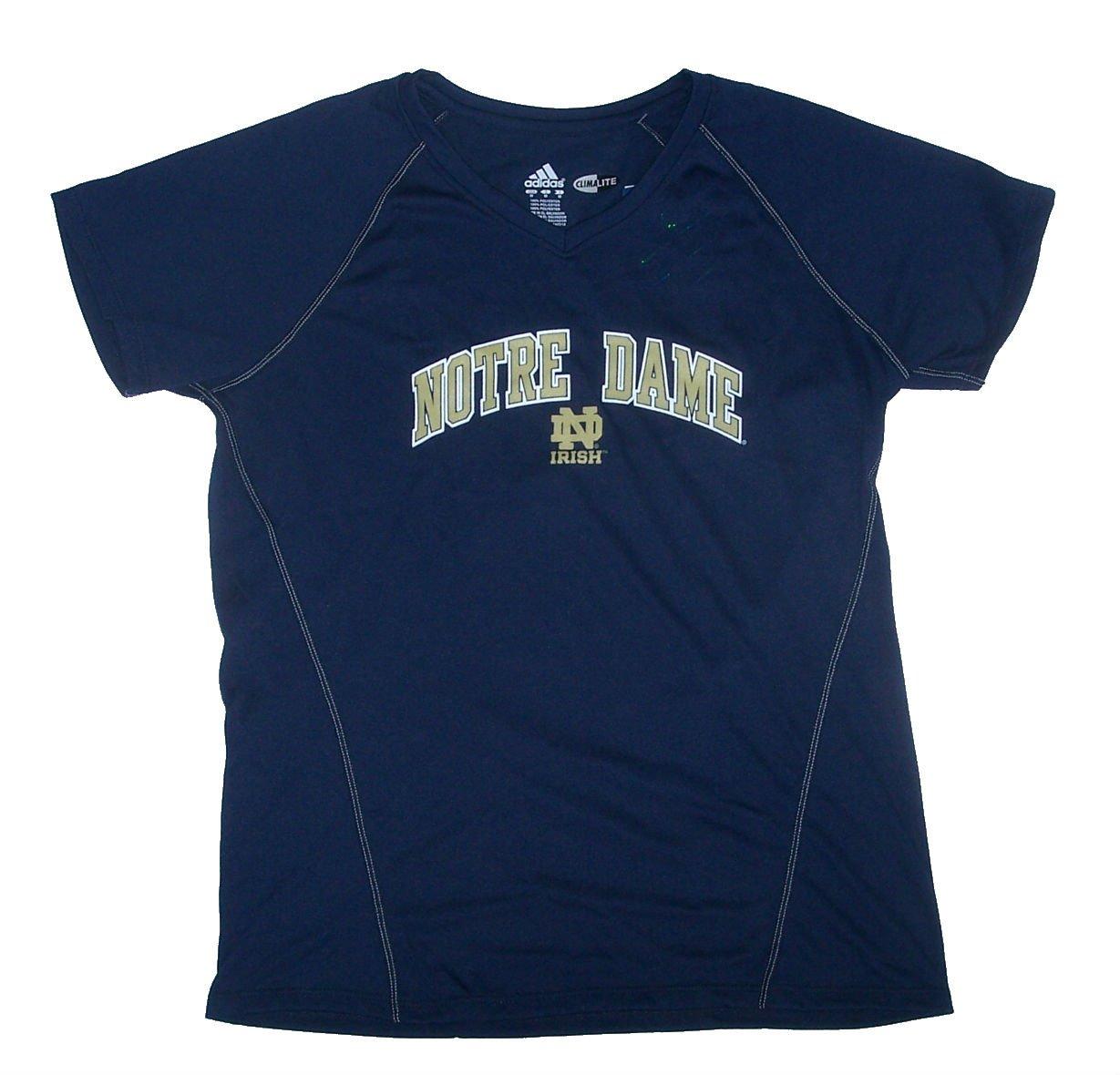 【国内即発送】 Adidas Dame Notre Dame Adidas Fighting IrishレディースLargeパフォーマンスVネックキャップスリーブシャツ – – ネイビーブルー&ゴールド B01134JY3U, 人形とベビー用品の桜うさぎ:49e23e10 --- a0267596.xsph.ru